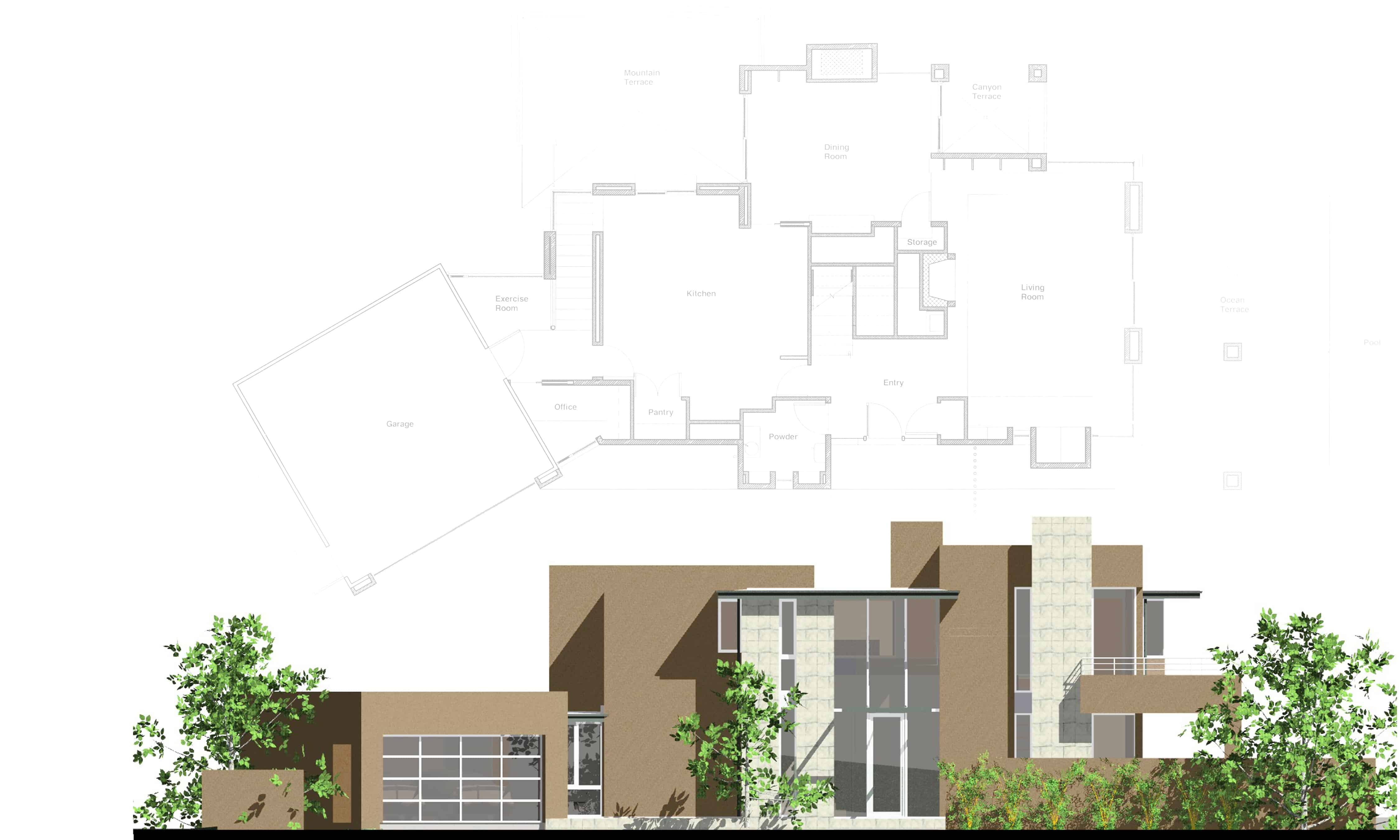 0315_Riviera_West Elevation – plan