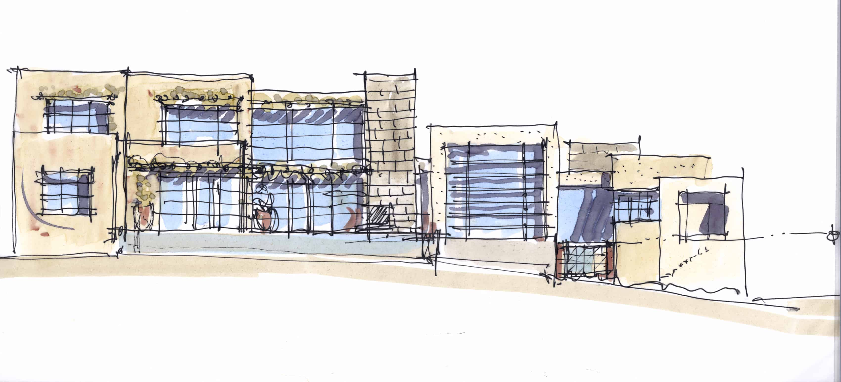 0340_Bentley Residence_Elevation Sketch 2