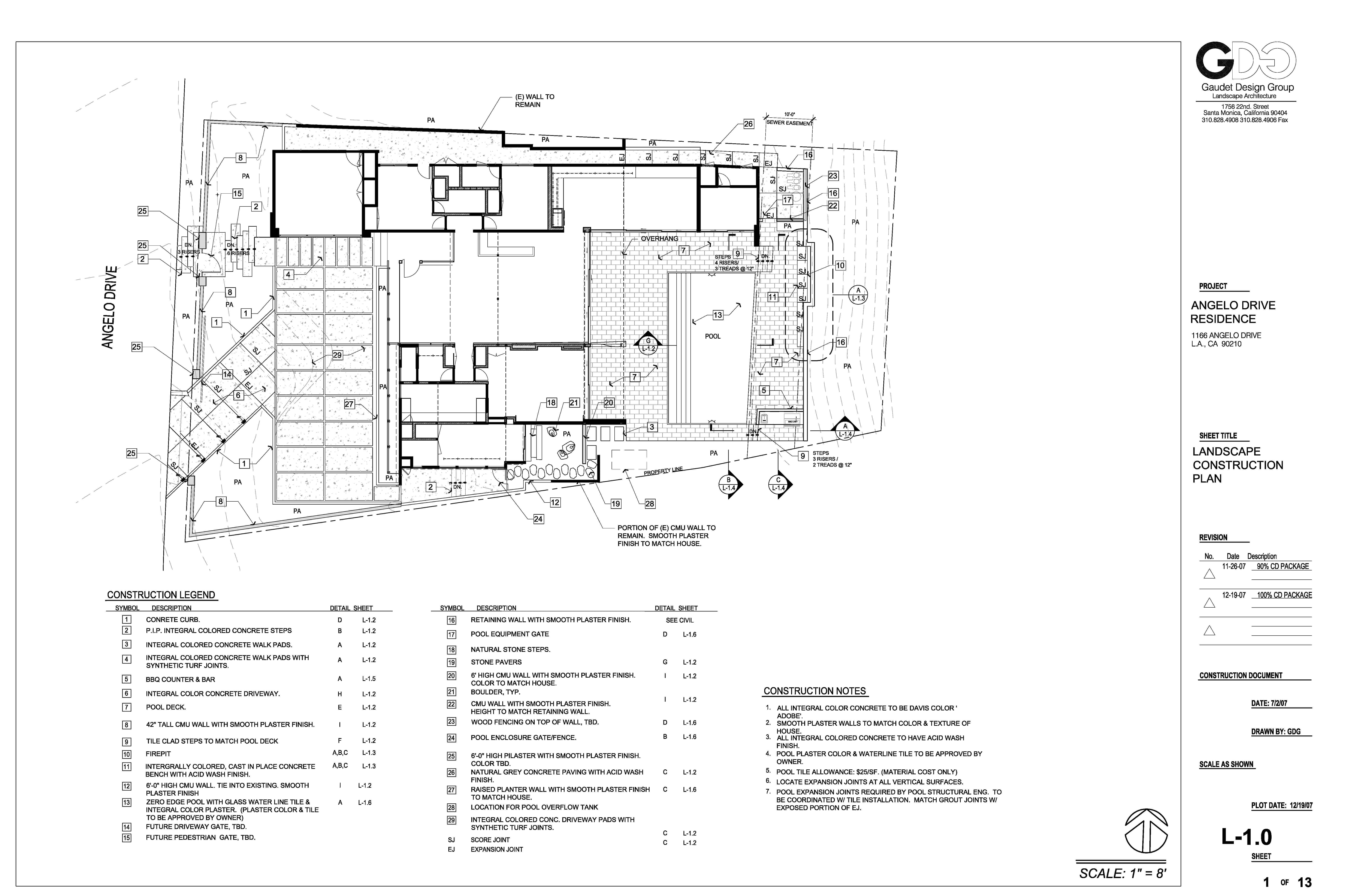 0635_Angelo Residence_L-1.0_Construction Plan